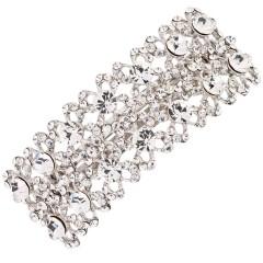Double Rowed Bows Hair Slide Swarovski Crystals, Paris Clip