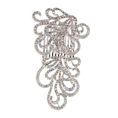 AB Clear Swarovski Crystals Swirl Hair Comb