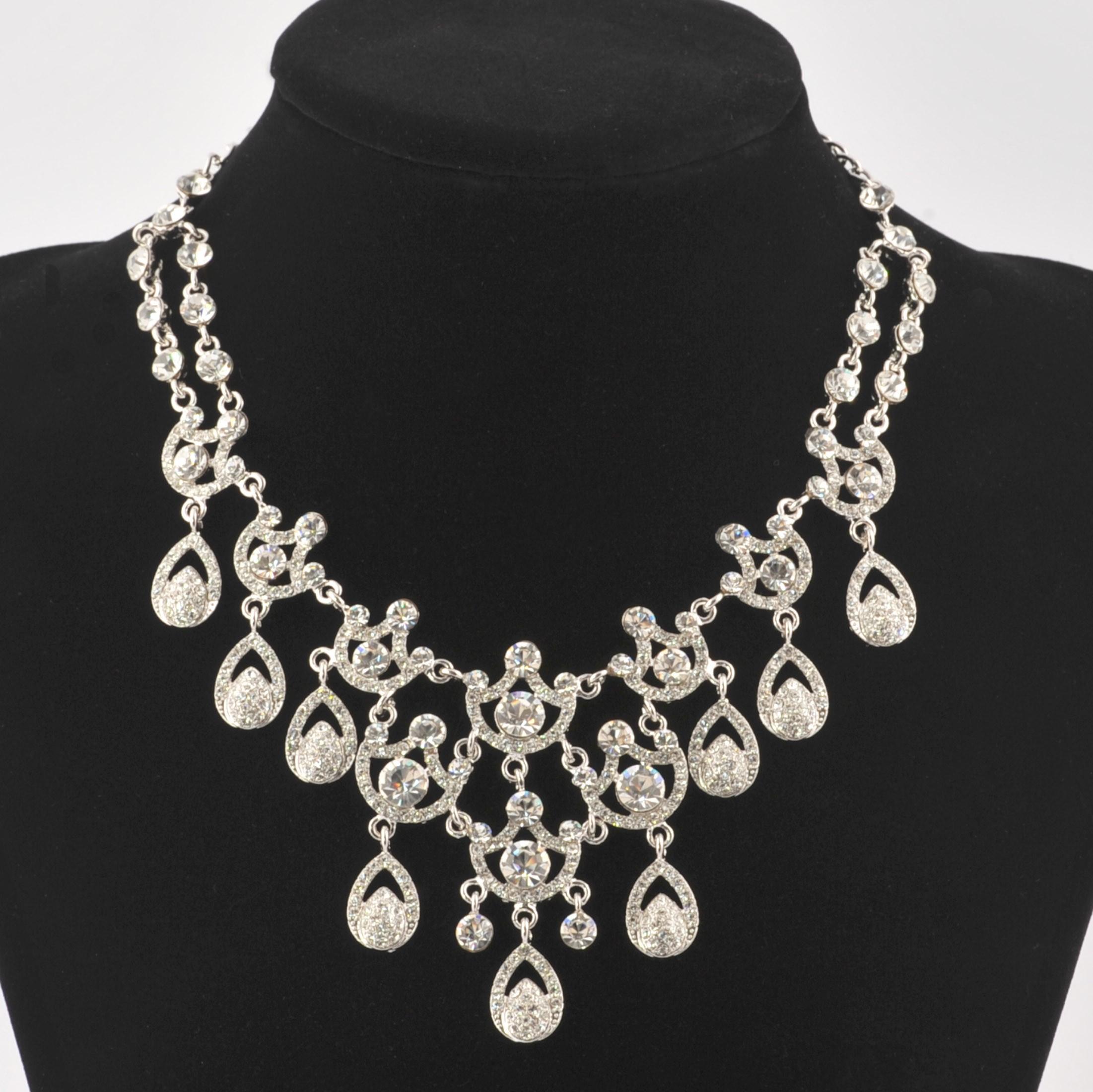 Swarovski Crystal Clear Crystal Necklace 9 Ornate