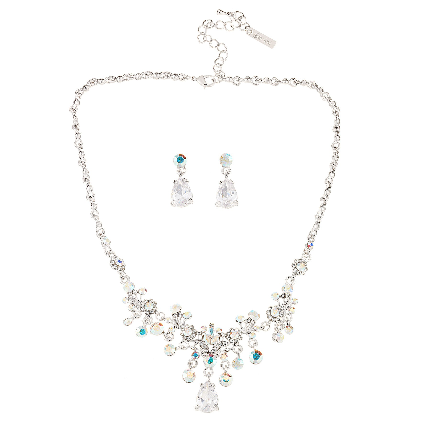 Swarovski Crystal Crystal Drop Necklace Amp Earrings In Ab