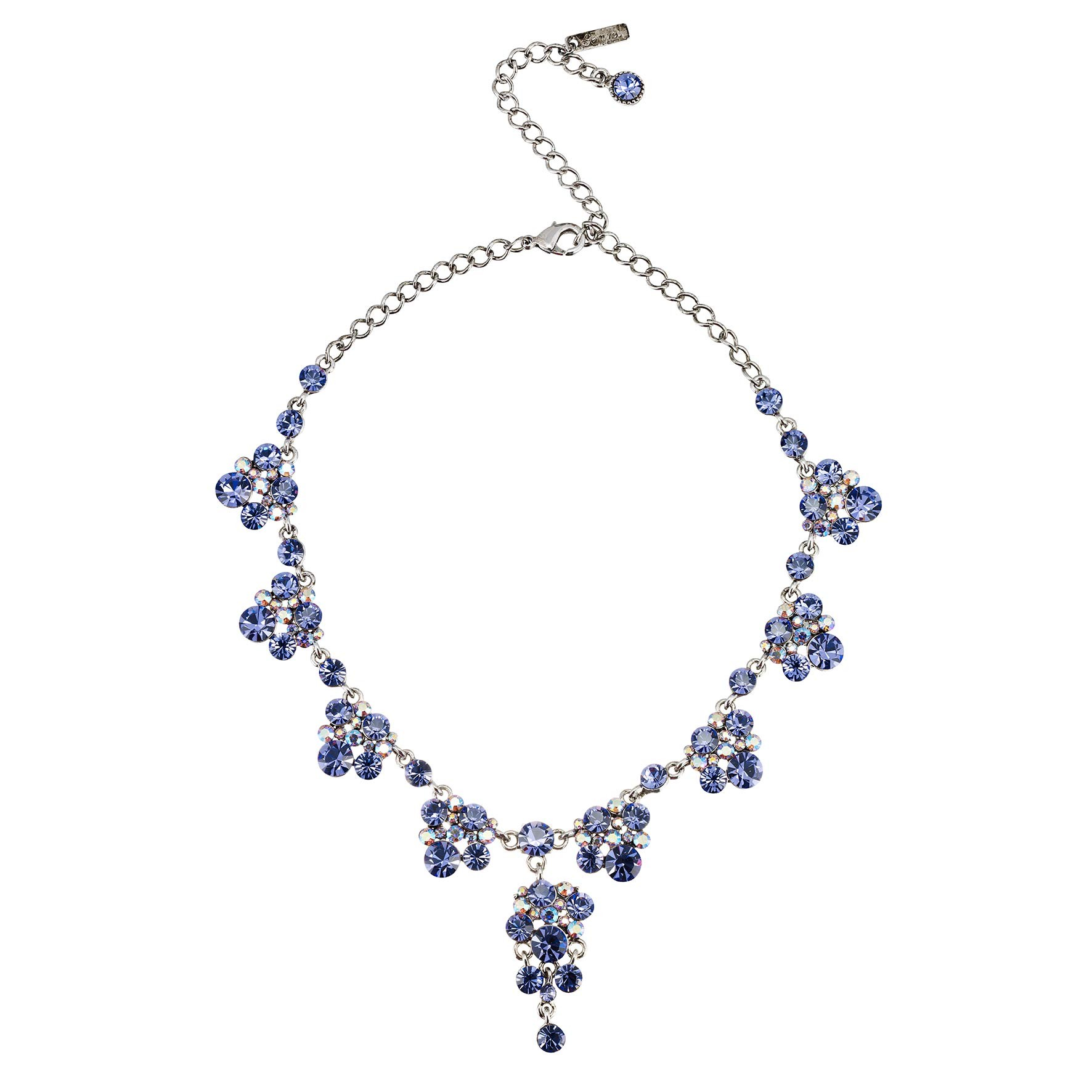 Swarovski Crystal Blue Crystal Necklace and Earrings Set b17e6afd3a
