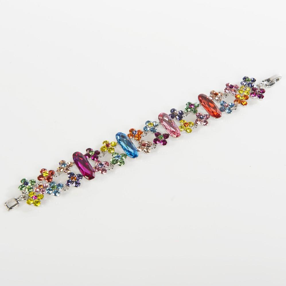Swarovski Crystal Bracelet In Multi Coloured Swarovski