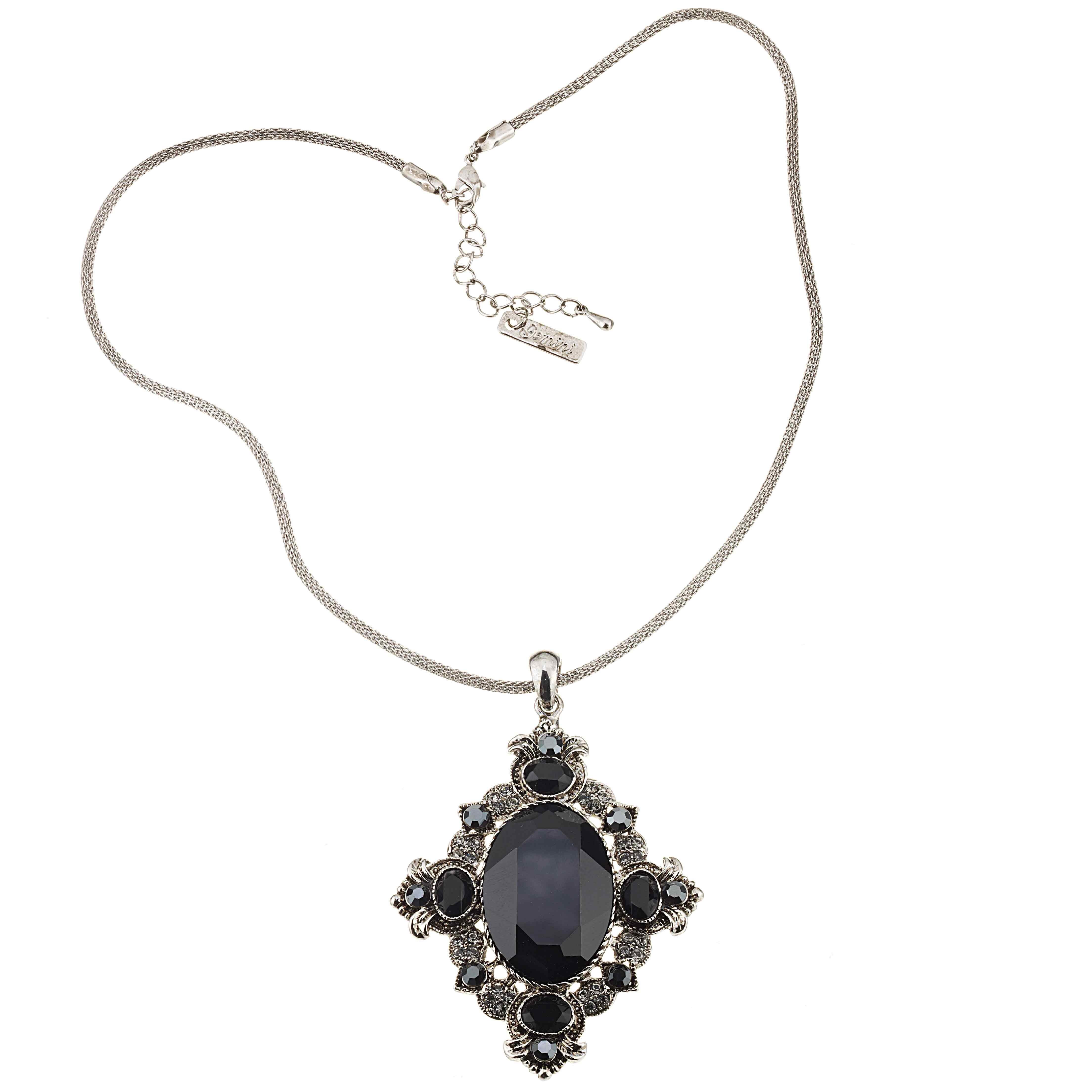 Swarovski Crystal Vintage Swarovski Black Diamond and Jet Crystal